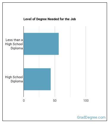 Door-to-Door Sales Worker, or Street Vendor Degree Level