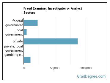 Fraud Examiner, Investigator or Analyst Sectors