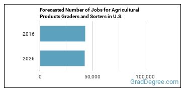 Forecasted Number of Jobs for Agricultural Products Graders and Sorters in U.S.