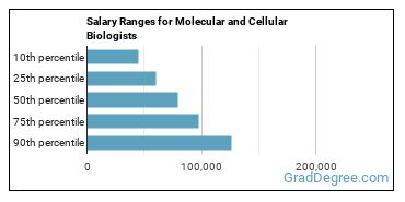 Salary Ranges for Molecular and Cellular Biologists