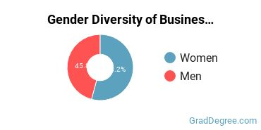 Business Administration & Management Majors in NM Gender Diversity Statistics