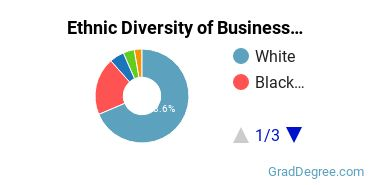 Business Administration & Management Majors in SC Ethnic Diversity Statistics