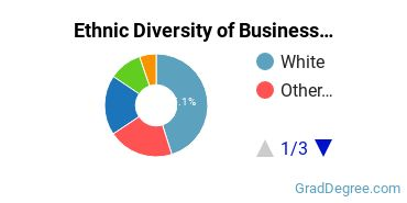 Business Administration & Management Majors in VA Ethnic Diversity Statistics