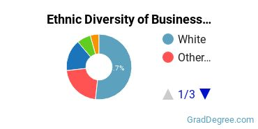 Business Administration & Management Majors in WA Ethnic Diversity Statistics