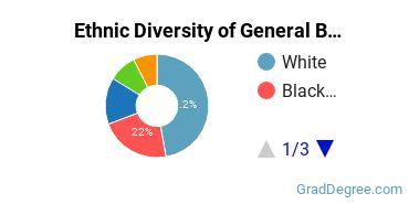 Business & Commerce Majors in MD Ethnic Diversity Statistics