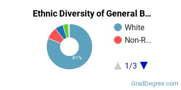 Business & Commerce Majors in NH Ethnic Diversity Statistics