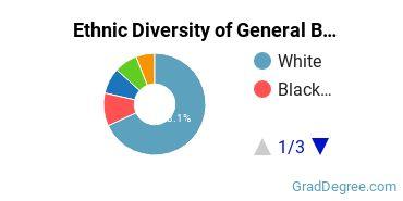 Business & Commerce Majors in PA Ethnic Diversity Statistics