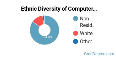 Computer Software Applications Majors in DE Ethnic Diversity Statistics
