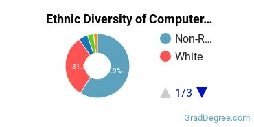 Computer Software Applications Majors in VA Ethnic Diversity Statistics