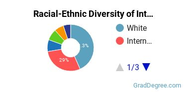 Racial-Ethnic Diversity of International Ed Students with Master's Degrees