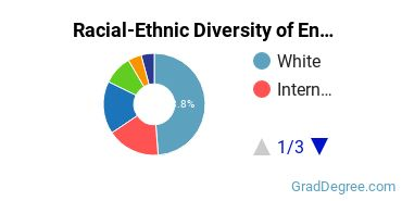 Racial-Ethnic Diversity of English or French Students with Master's Degrees