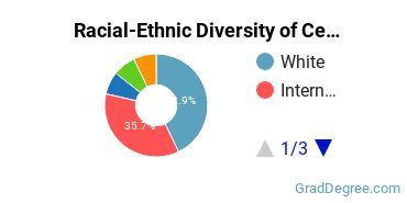 Racial-Ethnic Diversity of Ceramic Engineering Students with Master's Degrees