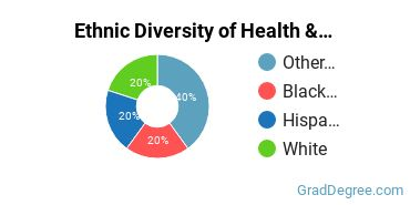 Health/Medical Admin Services Majors in NM Ethnic Diversity Statistics