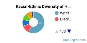 Racial-Ethnic Diversity of Health Professions Students with Master's Degrees