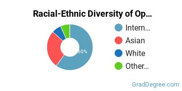 Racial-Ethnic Diversity of Optometric Support Students with Master's Degrees