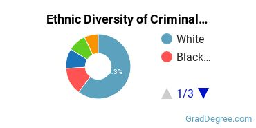 Criminal Justice & Corrections Majors in CT Ethnic Diversity Statistics