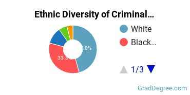 Criminal Justice & Corrections Majors in DC Ethnic Diversity Statistics