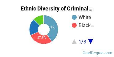 Criminal Justice & Corrections Majors in FL Ethnic Diversity Statistics
