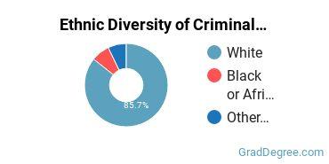 Criminal Justice & Corrections Majors in ME Ethnic Diversity Statistics