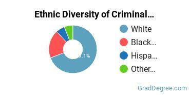 Criminal Justice & Corrections Majors in NE Ethnic Diversity Statistics