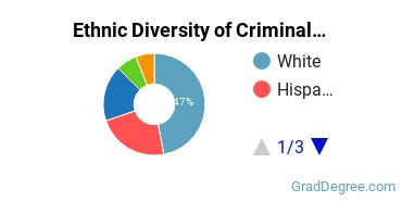 Criminal Justice & Corrections Majors in NY Ethnic Diversity Statistics