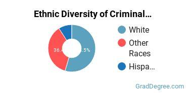 Criminal Justice & Corrections Majors in VT Ethnic Diversity Statistics