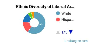 Liberal Arts General Studies Majors in TX Ethnic Diversity Statistics