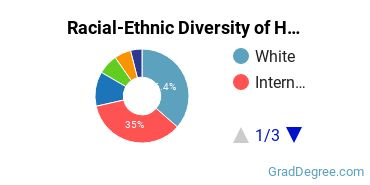 Racial-Ethnic Diversity of Human Computer Interaction Students with Master's Degrees