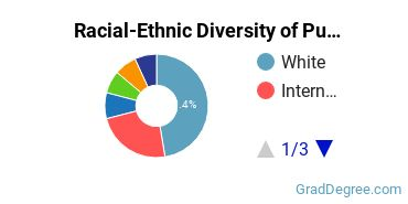 Racial-Ethnic Diversity of Public Policy Students with Master's Degrees