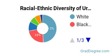 Racial-Ethnic Diversity of Urban Studies Students with Master's Degrees