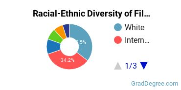 Racial-Ethnic Diversity of Film Students with Master's Degrees